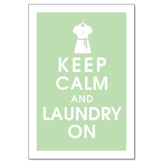 Keep calm laundry