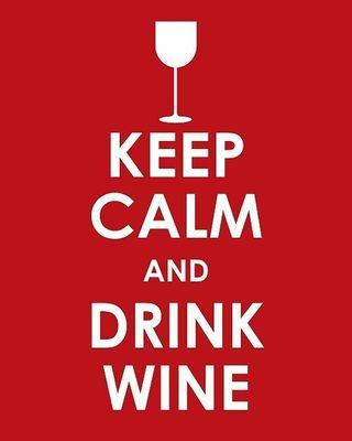 Keep calm wine